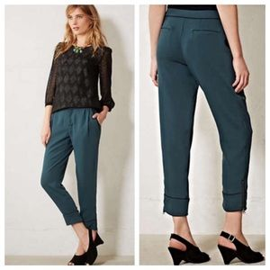 NWT Anthropologie Cartonnier Ankle Zip Trousers